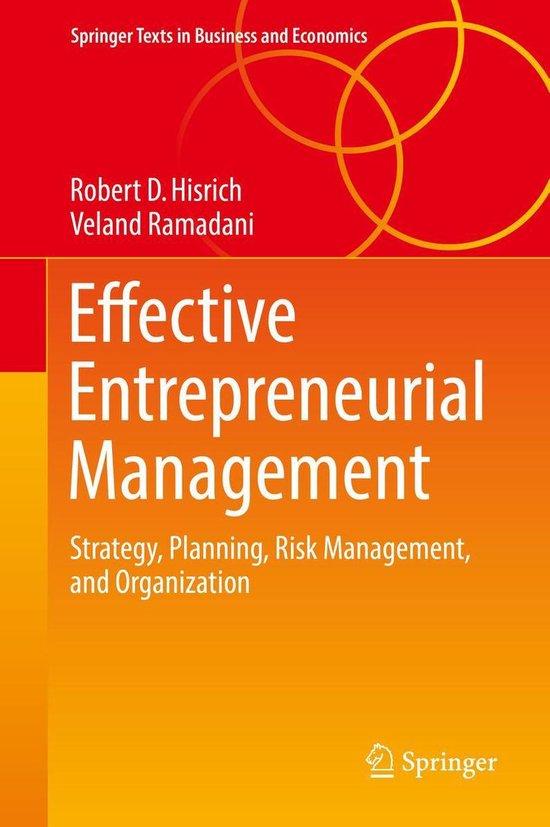Afbeelding van Effective Entrepreneurial Management
