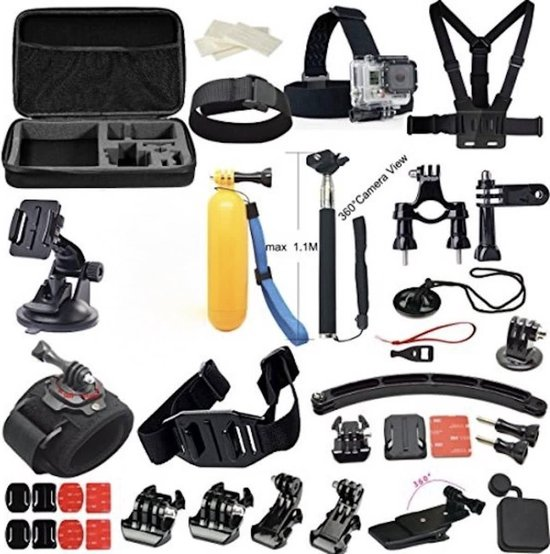 GoPro set 24 in 1 - 24-delig GoPro accessoires set