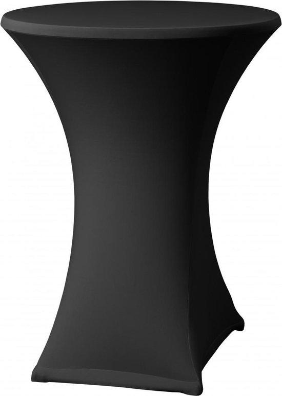 Statafelrok Luxe Zwart x 1 - ∅80 x 110 cm - Statafel Tafelrok - Statafelhoes