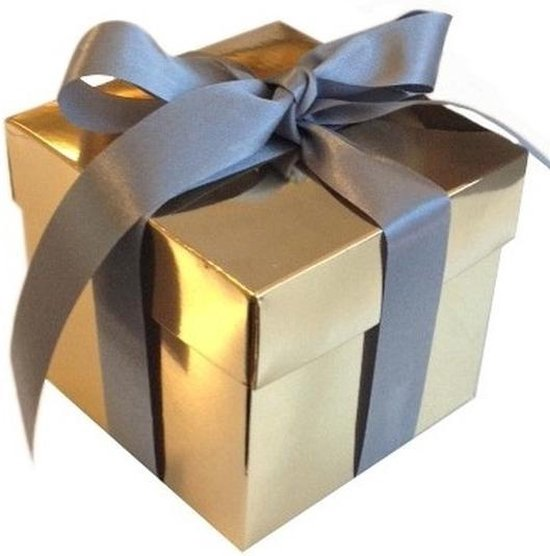 bol.com | Kerst Glimmend gouden deco kadootjes 10 cm
