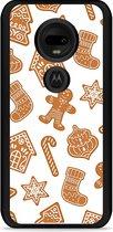 Moto G7 / G7 Plus Hardcase hoesje Christmas Cookies