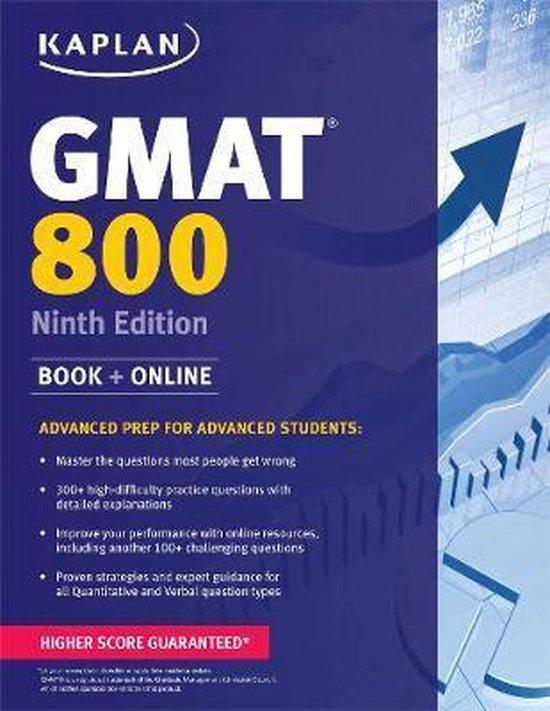 Boek cover Kaplan GMAT 800 van Kaplan Test Prep (Paperback)