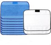 Microvezeldoeken Voor iRobot Braava 4200\/5200\/320\/380\/380T\/390T - Microfiber Microvezel Doekjes Set - Dweildoeken - Nat\/Droog 10 Stuks - Blauw