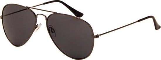 AZ Eyewear - Zonnebril Heren - Zonnebrillen Dames -  Piloot -  zilverkleur en grijs/zwart glas- Polarized
