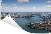 Luchtfoto van de enorme Australische stad Sydney Tuinposter 180x120 cm - Tuindoek / Buitencanvas / Schilderijen voor buiten (tuin decoratie) XXL / Groot formaat!