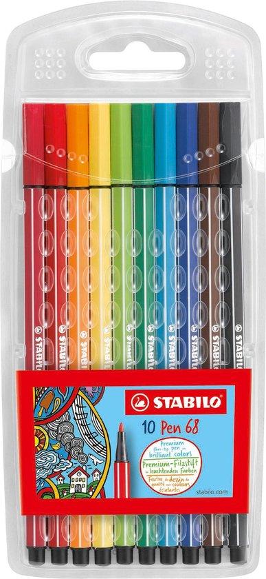 Afbeelding van STABILO Pen 68 - Premium Viltstift - Hersluitbare Etui Met 10 Kleuren