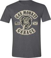 Gas Monkey Garage  - Gas Monkey Patch Mannen T-Shirt - Houtskool - S