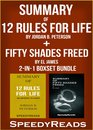 Omslag Summary of 12 Rules for Life: An Antidote to Chaos by Jordan B. Peterson + Summary of Fifty Shades Freed by EL James 2-in-1 Boxset Bundle