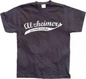 Fun t-shirt Alzheimer heren L