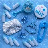 It's a Boy, gemengd zakje babyshower decoratie, 16 stuks