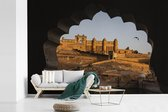 Fotobehang vinyl - Schitterende afbeelding van het Fort Amber in India breedte 330 cm x hoogte 220 cm - Foto print op behang (in 7 formaten beschikbaar)