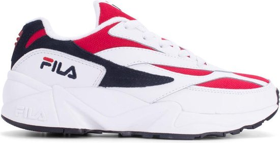 Fila Venom Low Sneakers Heren - White/Navy-Red - Maat 42