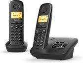 Gigaset A270A - Duo DECT telefoon - met antwoordapparaat - Zwart