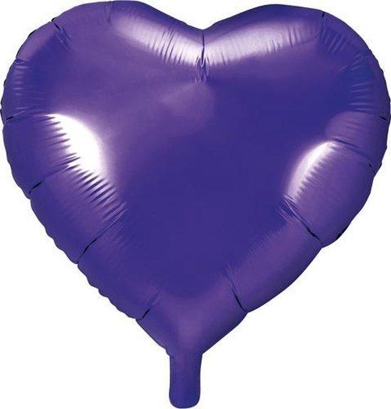 Folieballon hart Violet