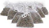 Bio scents Gedroogde Franse Lavendel geur zakjes 10 stuks wit - biologisch