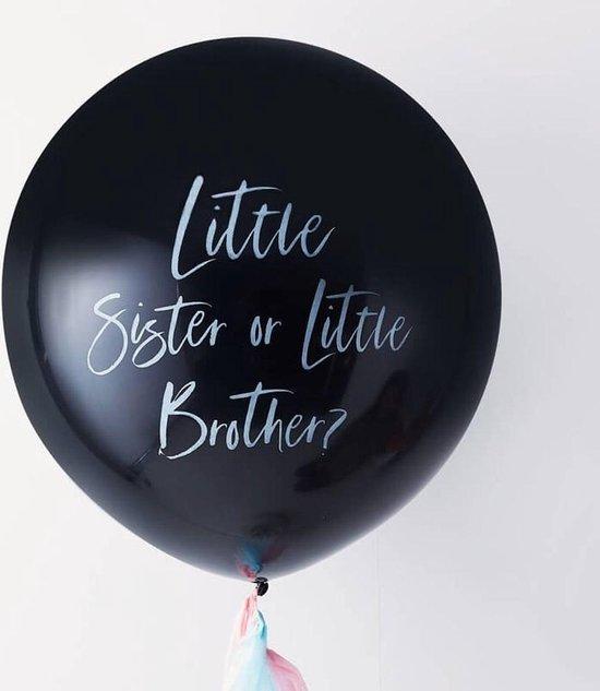 Ballon gender reveal - Little sister or brother - 90 centimeter