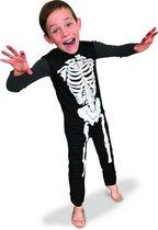 RUBIES FRANCE - Klassiek zwart en wit skelet pak voor kinderen - 122/128 (7-8 jaar) - Kinderkostuums