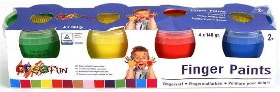 Vingerverf Creafun 4 X 140 Gram