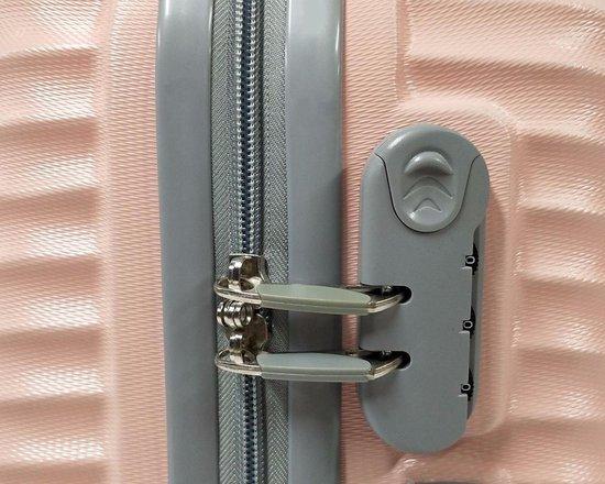 Handbagage koffer 51cm 4 wielen trolley - Licht Roze - Sb