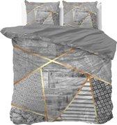 Dreamhouse Graphic - Dekbedovertrekset - Lits-Jumeaux - 240x200/220 + 2 kussenslopen 60x70 - Grijs
