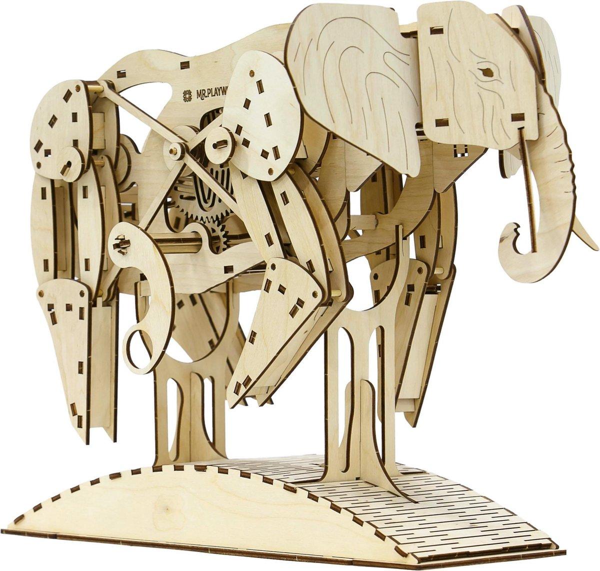 Mr. PlayWood Olifant - Houten Modelbouw