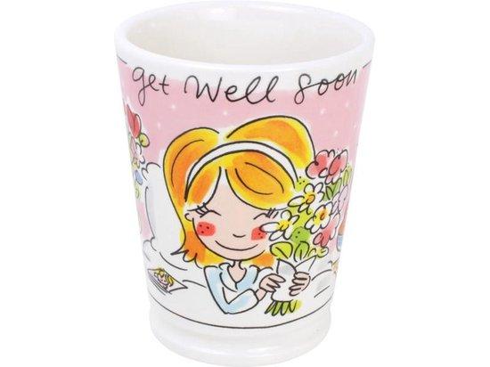 Blond Amsterdam XL beker Get well soon - 500 ml beterschap cadeau vrouw