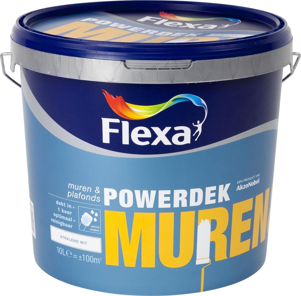 Flexa Powerdek Muren & Plafonds Muurverf - Stralend Wit - 10 liter
