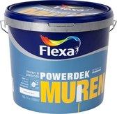 Flexa Powerdek Muurverf - Muren & Plafonds - Stralend Wit - 10 liter