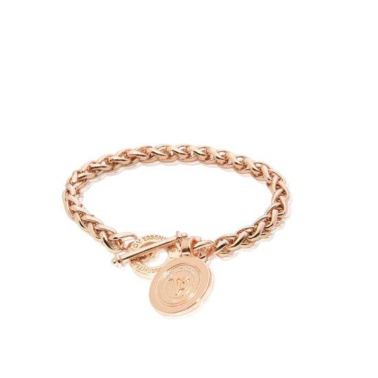 TOV Essentials Round Chain Bracelet - Armband - Rosékleurig - 21 cm