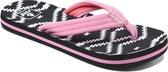 Reef Little Ahi Meisjes Slippers - Wit/Roze/Zwart - Maat 31/32