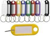 Gekleurde sleutellabels / sleutelhangers - 20 delig