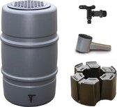 Regenton voordeelset | Harcostar 227liter grijs + Harcostar standaard + Harcostar vulautomaat 70/80mm