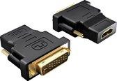 MMOBIEL HDMI DVI Adapter - Vergulde Connectoren - 1080p Full HD
