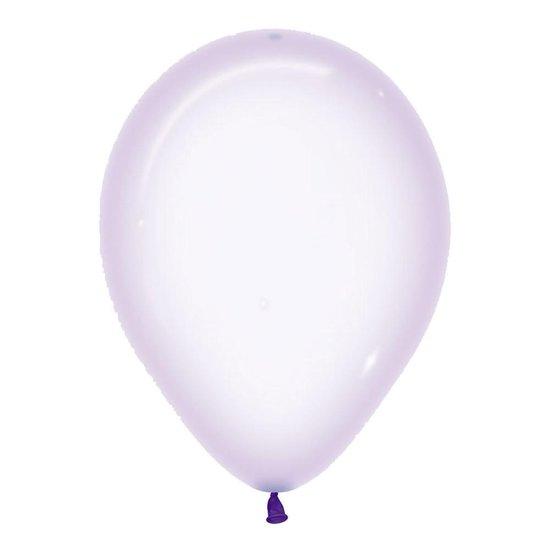 Ballonnen Crystal Pastel Lila - 5 stuks