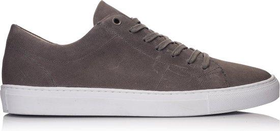 OMNIO VELO SNEAKER ECO Microforo Grey Embossed Leather - 43