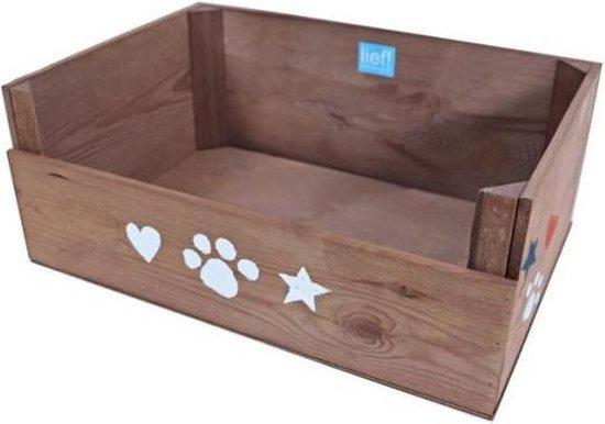 Lief! Lifestyle - Houten hondenmand - Unisex - 50 x 35 cm