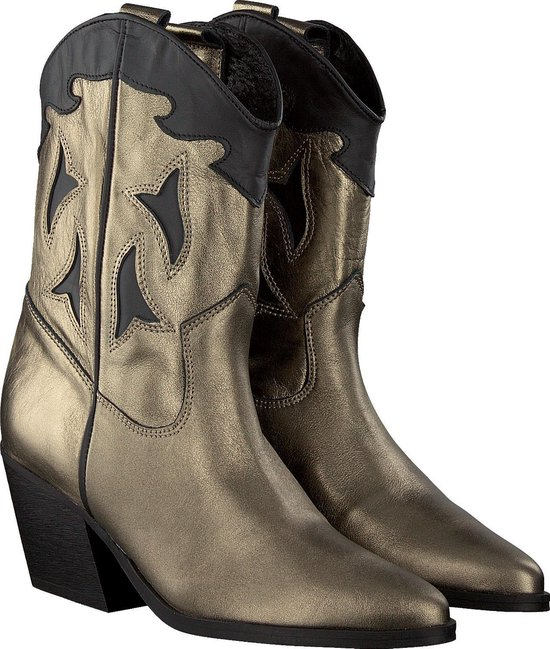 Deabused dames cowboy boots - zwart/brons - maat 40 iJ8QXWks