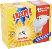 VAPONA Muggenbestrijding - Anti Mug Muggenstekker - 45 nachten