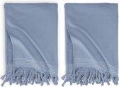 Walra Hamamdoek Soft Cotton - 2 stuks - 100x180 cm - Blauw