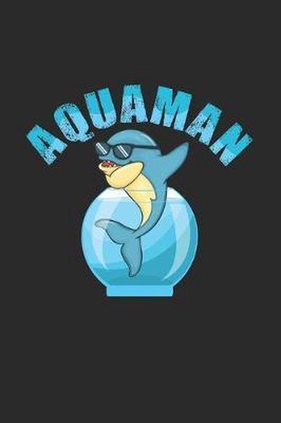 Aquaman: 6x9 Aquarium - dotgrid - dot grid paper - notebook - notes