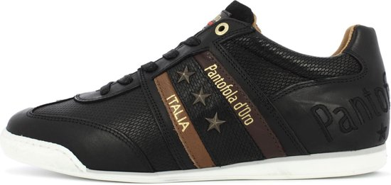 Pantofola d'Oro Imola Uomo Stampa Lage Zwarte Heren Sneaker 42