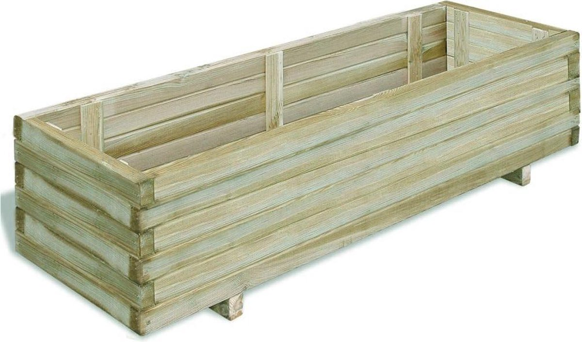 vidaXL Plantenbak rechthoekig 120x40x30 cm FSC hout