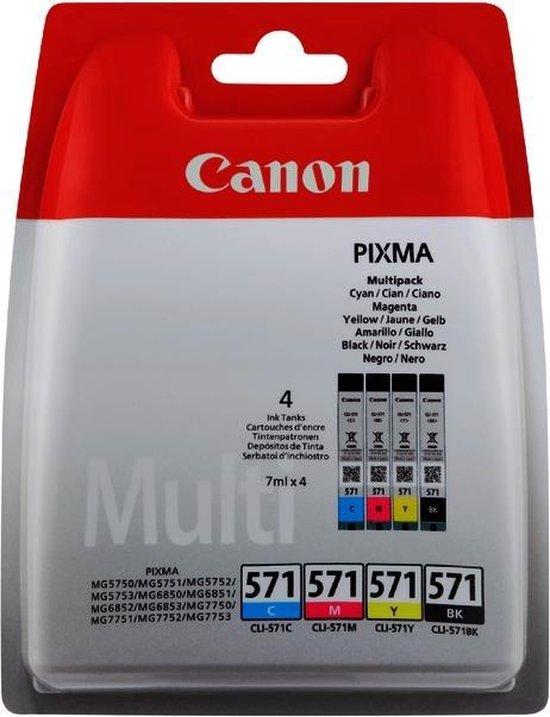 Canon CLI-571 - Inktcartridge / Cyaan / Magenta / Geel / Zwart - Canon