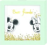 Disney Spaarpot Mickey & Minnie Mouse 16 Cm Hout Mint/wit