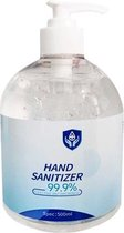 Handgel 500ml ontsmettingsmiddel in flacon met pomp