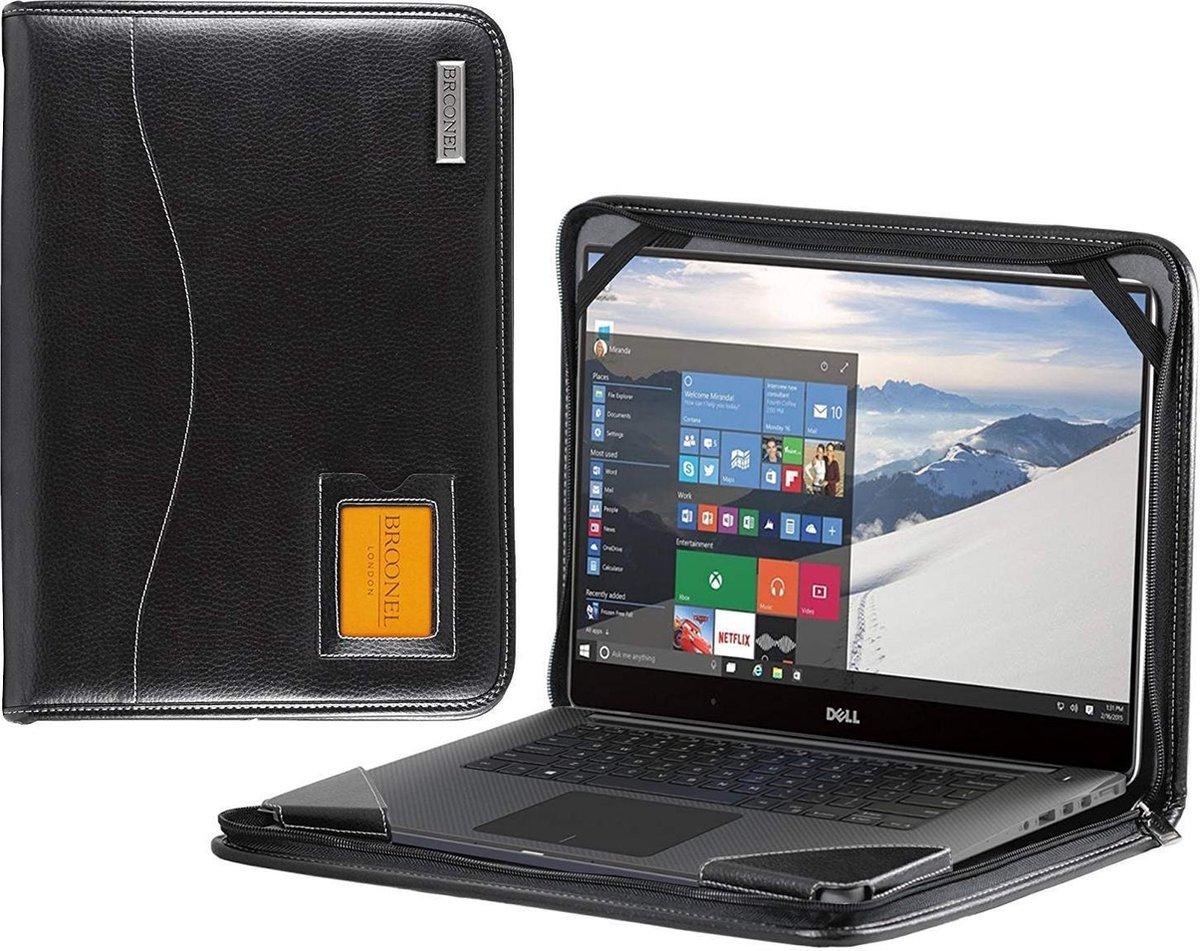 Broonel - Contour Series - Zwarte zware lederen beschermhoes compatibel met de Dell Inspiron 15 5000 (5590) 15.6 Inch Laptop kopen