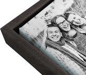 60x60 cm - Canvas kader - Zwarte baklijst - voor canvas product