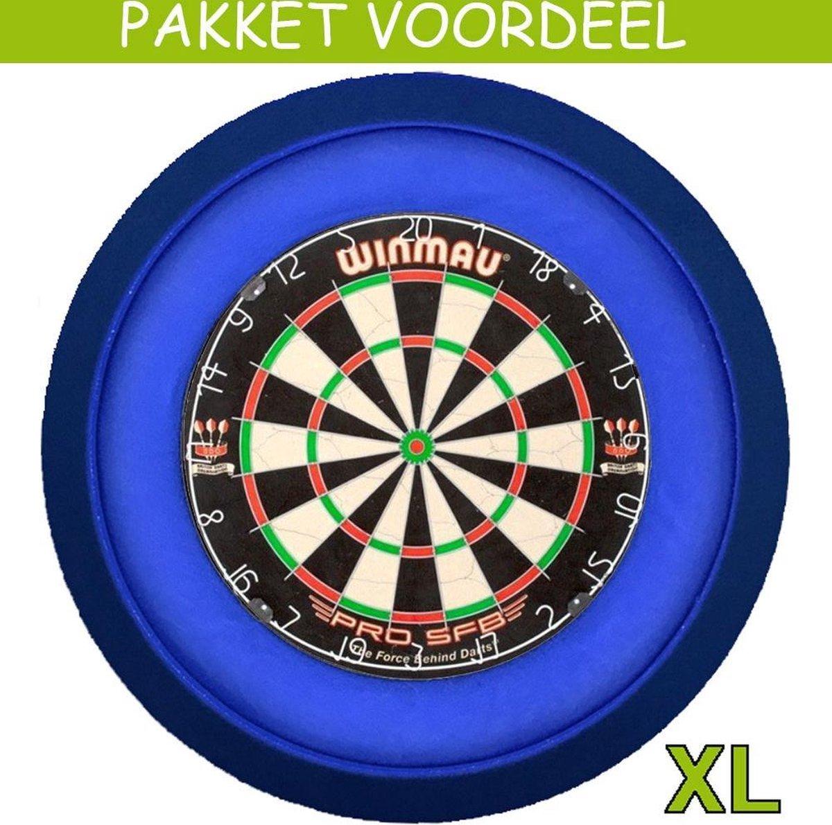 Dartbord Verlichting Voordeelpakket Super Deluxe + Pro SFB + Dartbordverlichting Deluxe XL(Blauw)