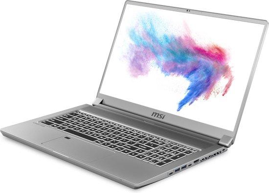 """MSI Creator 17 A10SGS-099BE Notebook Grijs 43,9 cm (17.3"""") 3840 x 2160 Pixels Intel® 10de generatie Core™ i7 32 GB DDR4-SDRAM 2000 GB SSD NVIDIA GeForce RTX 2080 SUPER Wi-Fi 6 (802.11ax) Windows 10 Pro"""