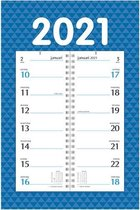 Omleg Weeknotitiekalender 2021 - op schild - clean design